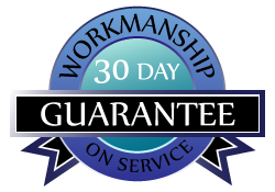 30 day guarantee on boiler and furnace repairs or service work
