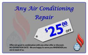 Save $25 on central air conditioner repair