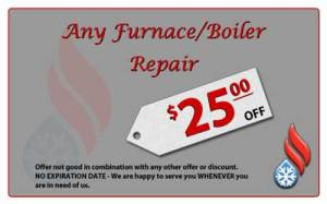 Save $25 on furnace or boiler repair